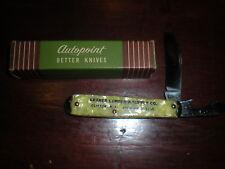 vintage Advertising Pocket Pen Knife Kramer Lumber & Supply Co. Clifton, N J