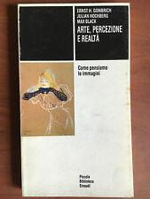 Arte percezione e realtà Gombrich Hochberg Black Einaudi 1978 - E20260