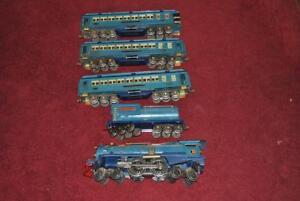 PREWAR LIONEL BLUE COMET STANDARD GAUGE SET w/COPPER TRIM 400E 400T 420 421 422!