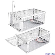 Humane Rat Trap Cage Box Live Animal Pest Rodent Mice Mouse Control Bait Catch D