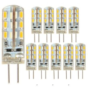 10PCS G4 3W 24*3014SMD Bi-pin LED Capsule Warm White Lamp Light Bulb DC12V 6000K