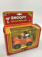 Vintage Snoopy's Family Car Die Cast Metal Toy by Aviva 1975 w/ Original Box