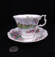 ROYAL ALBERT SERIES ENGLANDS GLORY ANCESTRAL SERIES CABINET TEA CUP AND SAUCER