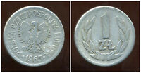 POLOGNE  1 zloty  1965  ( bis )