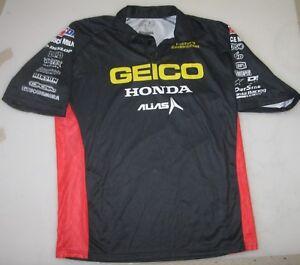 '13 GEICO HONDA AMSOIL ALIAS TEAM ONLY PIT SHIRT L supercross motocross windham