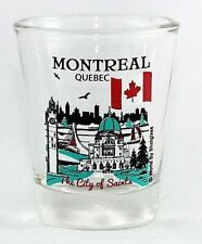 MONTREAL QUEBEC CANADA GREAT CANADIAN CITIES COLLECTION SHOT GLASS SHOTGLASS