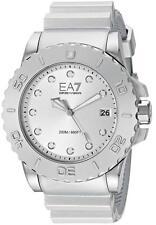 EMPORIO ARMANI (EA7) AR6085  Sportivo Silver Dial Resin Strap Men's Watch