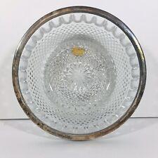 Vintage Silver Rimmed Genuine Lead Crystal Bowl Made in West Germany