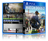 Watch Dogs 2 - Replacement PS4 Cover and Case. NO GAME!!