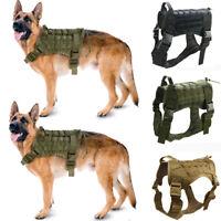 Police K9 Tactical Training Dog Harness Military Adjustable Molle Nylon Vest