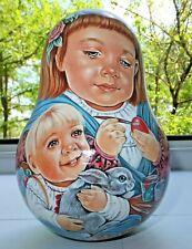 Russian matryoshka babushka doll roly-poly beauty girl handmade exclusive
