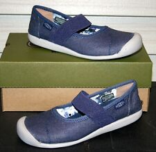 KEEN SIENNA MJ Canvas US 8 EU 38.5 Woman's Mary Jane Shoe Blue