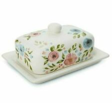 Cooksmart MultiColour Country Floral BUTTER Storage DISH with LID