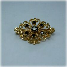 9ct Gold Sapphire Brooch from 1988