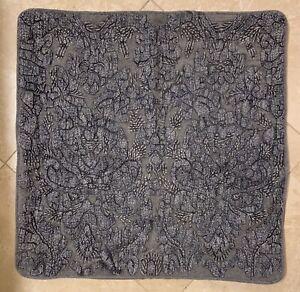 "EUC Pottery Barn Akira Embroidered 22"" Pillow Cover GRAY"