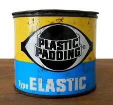 Vintage Plastic Padding Tin Can Filler Classic Enthusiast Garage Man Cave