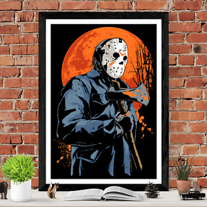 Friday The 13th Jason Voorhees Horror Movie Poster Print
