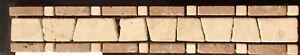 Tumbled Marble And Travertine Tile Border 5x30cm Mesh Mounter £4 Each Pack 10pz