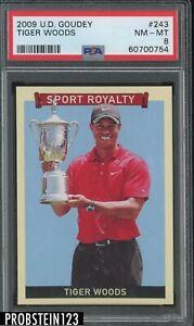 2009 UD Goudey Golf #243 Tiger Woods PSA 8 NM-MT