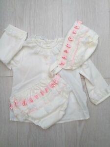 Baby Girls Romany Spanish Pink 3 Piece Jam Pants Set Age 12 Months