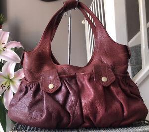 Lovely Whistles genuine leather medium Handbag, Over Shoulder Bag