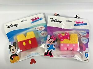 Mickey Mouse & Minnie Mouse KRISPY TREATS Kawaii Squeezies! Brand NEW!!
