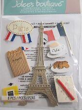 JOLEE'S BOUTIQUE PARIS Eiffel Tower Europe Scrapbook Craft Sticker Embellishment