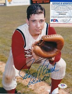 JOHNNY BENCH  CINCINNATI REDS  68 NL ROY  PSA AUTHENTICATED  ACTION SIGNED 8X10