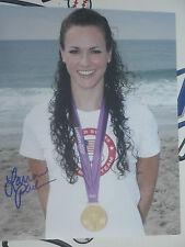 Lauren Perdue signed 8x10 photo 2012 Olympics swimming Gold Medal winner COA