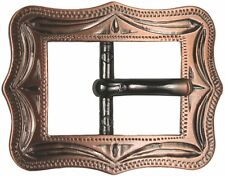 Western Equestrian Cowboy Rodeo Tack Cart Buckle Antique Copper Plated 3/4""