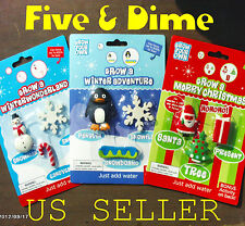 GROWING CHRISTMAS TOYS GIFTS 9 Pks. Santa, Snowman, Tree & More