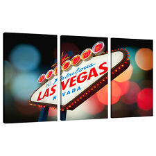 3 Piece Las Vegas Canvas Art Pictures Modern Wall Prints Lounge 3126