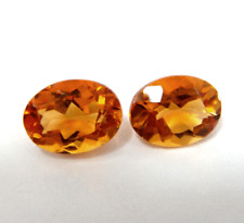40%OFF 2.04ct STUNNING AAA Nat Pair of Oval Cut Citrine