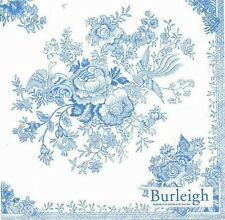 Burleigh Asiatic Pheasants Blue And White, 20 Paper Napkins Serviettes Toile New
