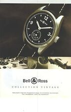 PUBLICITE  1998   BELL & ROSS montre collection VINTAGE