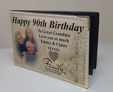 Personalised photo album, memory book, happy 90th birthday gift, Grandma Nanny.
