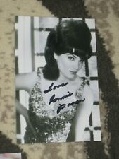 Singer CONNIE FRANCIS Signed 4x6 Photo AUTOGRAPH 1E