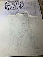 Greg Hildebrandt Star Wars Marvel Cover Sketch Signed w/COA