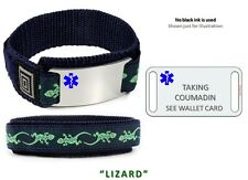 TAKING COUMADIN Sport Medical Alert ID Bracelet. Free engraving and wallet Card!