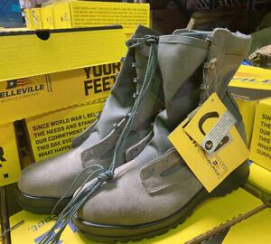 BELLEVILLE 600 ST Hot Weather Steel Toe Boot Sage Green Size 9.5M Regular