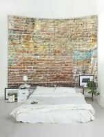 Brick Print Wall Tapestry Throw Wall Hanging Room Art Tapestries Wall Home Decor
