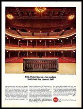 1966 RCA Victor Stereo Vintage PRINT AD Sound System Cincinnati Music Hall 1960s