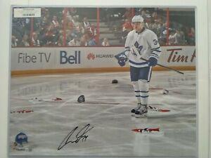 Auston Matthews autographed signed Four Goal NHL Debut 16x20 Photo - Fanatics