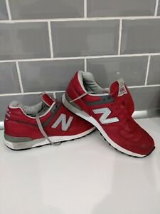New Balance 576 - M576RED mens trainers, Used UK8 - USA 8 1/2 D, Rare UK made