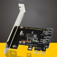 Internal 6Gbps PCIE Pci-e to SATA 3.0 2-Port Expansion Controller Card Adapter
