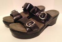 Dansko Women's Black Strappy Heels Shoes Size Euro 39 / US 8.5