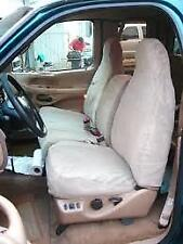 1997-1999 Ford F150, Front Car Seat Covers with 40/60 Split Seat in Taupe Twill