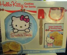 Hello Kitty Cookies for Santa Kit Plate Spatula Cutter New Unopened