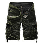 Mens Military Combat Camo Cargo Shorts Pants Work Casual Short Army Trousers New