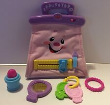 Fisher Price Laugh and Learn My Pretty Learning Purse Pink Bag & Accessories
